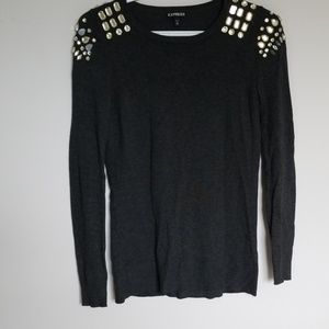 Express - Long Sleeve Knit with Bling